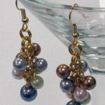 Pearlescent Beaded Earrings