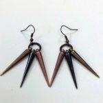 Copper Spike Earrings #427