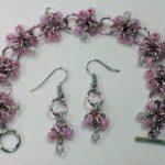 Beaded Earrings and Bracelet