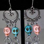 Skull Earrings #356