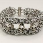 Three Skull Bracelet